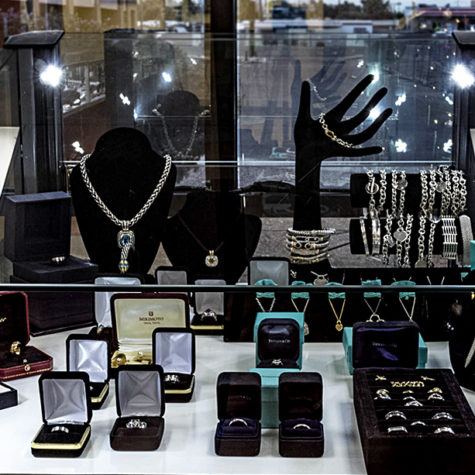 ring and jewelry display